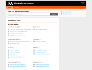 support.riskanalytics.com screenshot