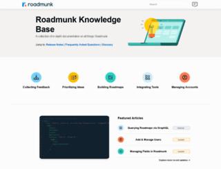 support.roadmunk.com screenshot
