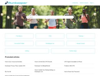 support.runkeeper.com screenshot