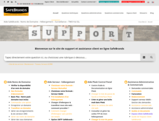 support.safebrands.fr screenshot