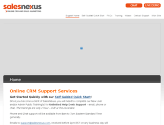 support.salesnexus.com screenshot