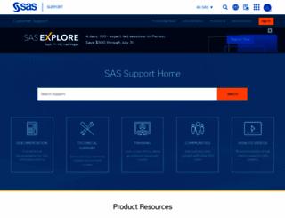 support.sas.com screenshot