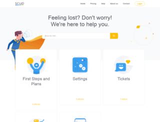 support.scup.com screenshot