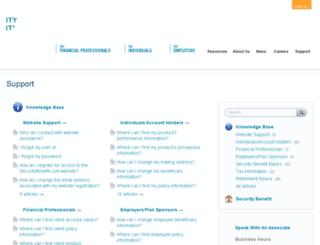 support.securitybenefit.com screenshot