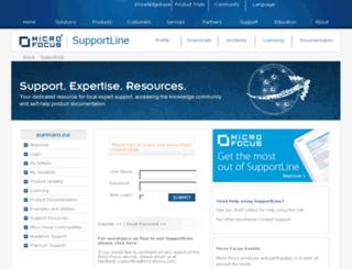 support.serena.com screenshot