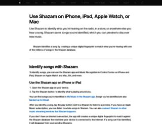 support.shazam.com screenshot