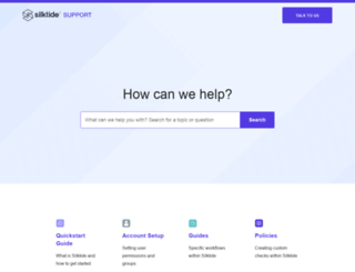 support.silktide.com screenshot