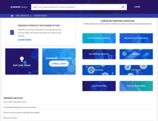 support.smarsh.com screenshot