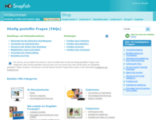 support.snapfish.de screenshot