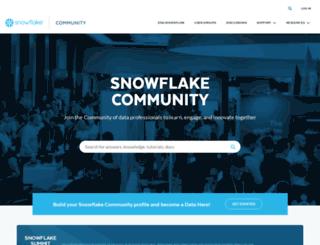 support.snowflake.net screenshot