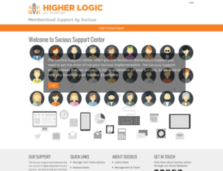 support.socious.com screenshot