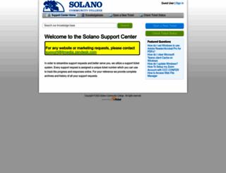 support.solano.edu screenshot