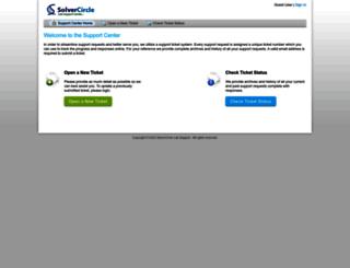 support.solvercircle.com screenshot