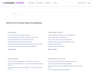 support.sonatype.com screenshot