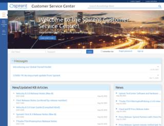 support.spirentcom.com screenshot