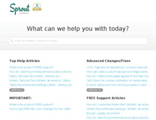 support.sproutcommerce.com screenshot