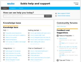support.subiz.com screenshot