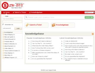 support.sw-box.com screenshot