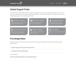 support.synecticsglobal.com screenshot
