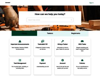 support.taskrabbit.com screenshot