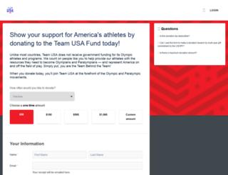 support.teamusa.org screenshot