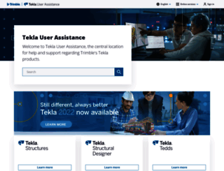 support.tekla.com screenshot