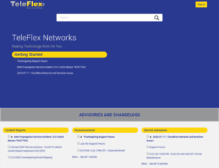 support.teleflexnetworks.com screenshot