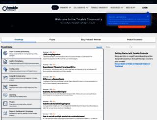 support.tenable.com screenshot