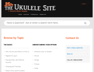 support.theukulelesite.com screenshot