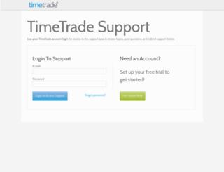 support.timetrade.com screenshot