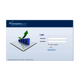 support.translations.com screenshot