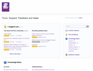 support.trunx.me screenshot