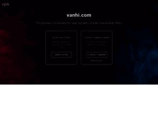 support.vanhi.com screenshot