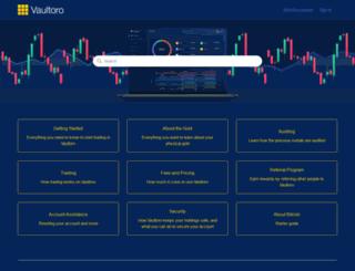 support.vaultoro.com screenshot