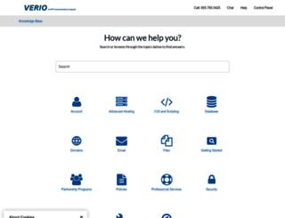 support.verio.com screenshot
