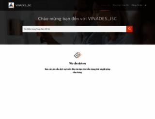 support.vinades.vn screenshot