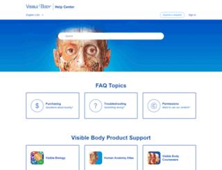 support.visiblebody.com screenshot
