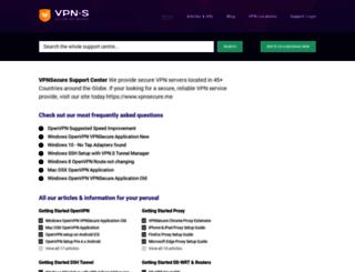support.vpnsecure.me screenshot