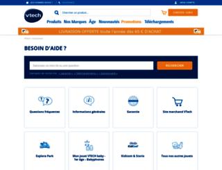 support.vtech-jouets.com screenshot