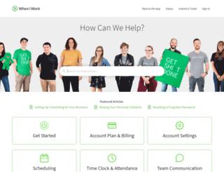 support.wheniwork.com screenshot