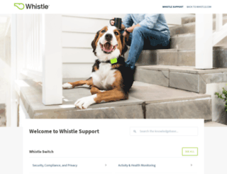 support.whistle.com screenshot