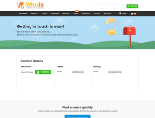 support.whois.com screenshot