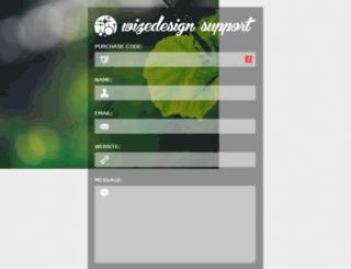 support.wizedesign.com screenshot