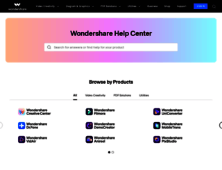 support.wondershare.com screenshot
