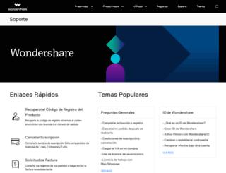 support.wondershare.es screenshot