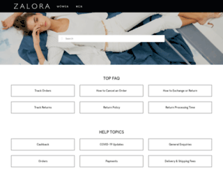 support.zalora.com.hk screenshot