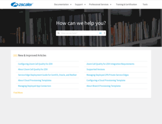 support.zscaler.com screenshot
