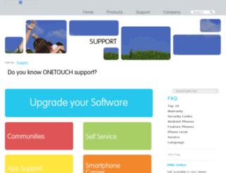 support1.alcatelonetouch.com screenshot