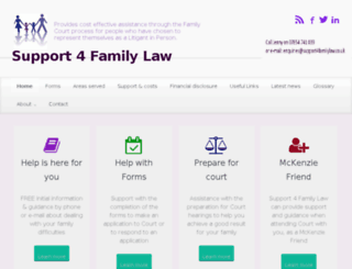 support4familylaw.co.uk screenshot