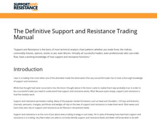 supportandresistance.com screenshot